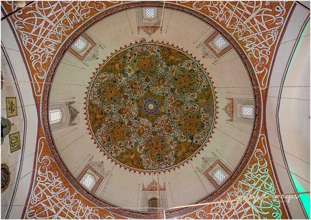 Ceiling artwork at Mevlana museum